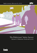 Cover of the publication Politicians' safety survey