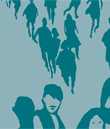 Illustration of  people in a crowd, from the Swedish Crime Survey