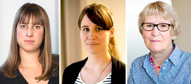 Anna-Lena Beutgen, Emy Bäcklin och Stina Holmberg